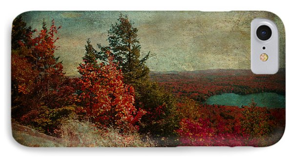 Vintage Inspired Adirondack Mountains In Fall Colors IPhone Case by Brooke T Ryan