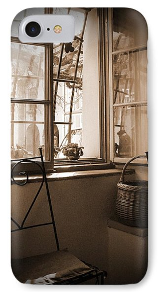 Vintage Interior With A Wooden Framed Window IPhone Case