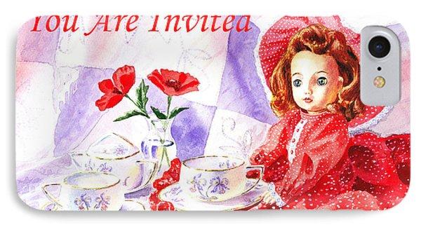 Vintage Invitation IPhone Case by Irina Sztukowski