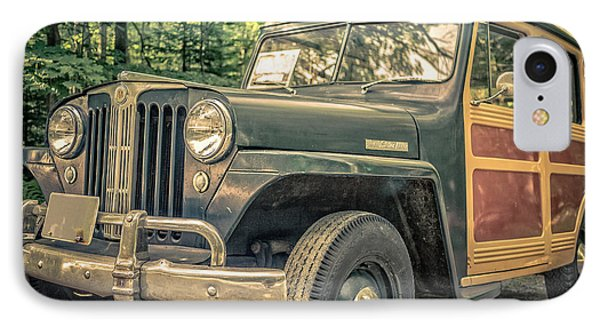 Vintage Jeep Station Wagon IPhone Case by Edward Fielding