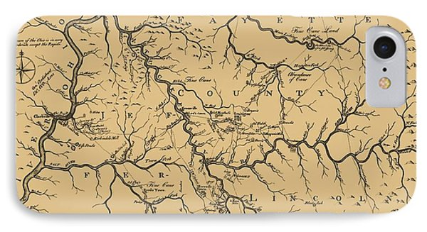 Vintage Kentucky Map IPhone Case