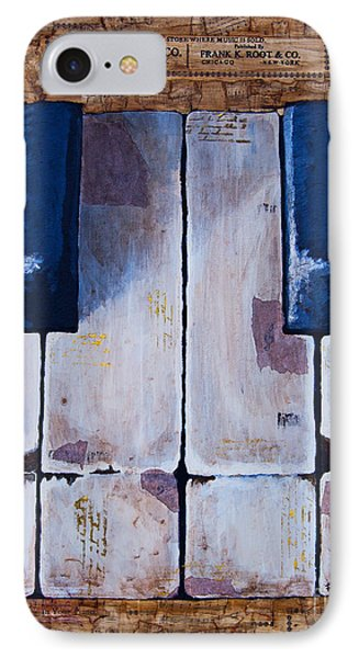 IPhone Case featuring the mixed media Vintage Keys by Melissa Sherbon