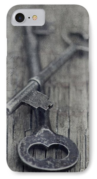 Vintage Keys IPhone Case by Priska Wettstein