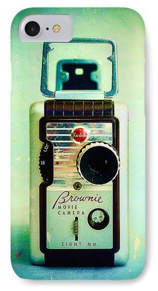Vintage Kodak Brownie Movie Camera IPhone Case by Jon Woodhams