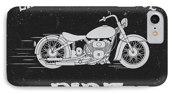 T Shirts iPhone 7 Case - Vintage Label With Motorcycle .vintage by Dimonika