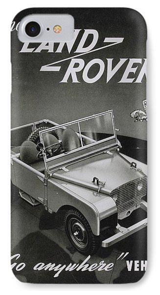 Vintage Land Rover Advert IPhone Case by Georgia Fowler