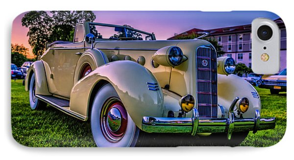 Vintage Lasalle Convertible IPhone Case by Edward Fielding