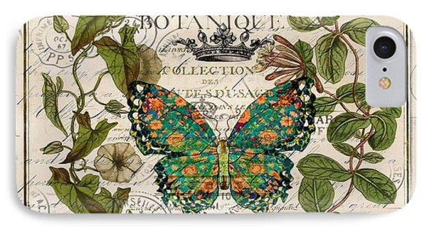 Vintage Leaves Wreath Paris Botanical Art IPhone Case