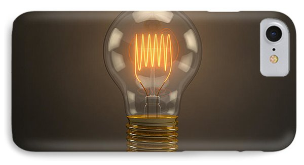 Vintage Light Bulb IPhone Case by Scott Norris