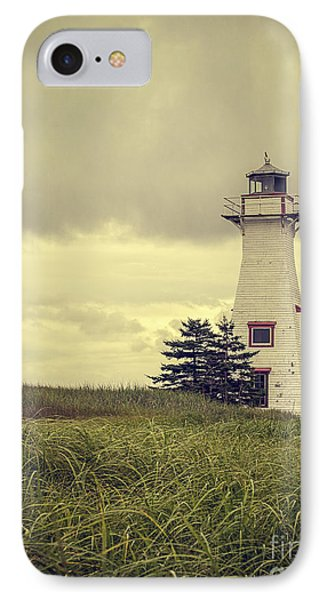 Vintage Lighthouse Pei IPhone Case by Edward Fielding