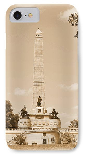 Vintage Lincoln's Tomb IPhone Case by Luther Fine Art
