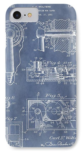 Vintage Lock Patent IPhone Case by Dan Sproul