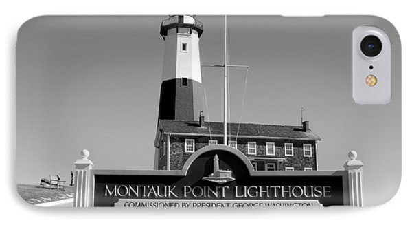 Vintage Looking Montauk Lighthouse IPhone Case by John Telfer