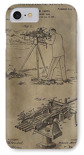 Vintage Machine Gun Patent IPhone Case
