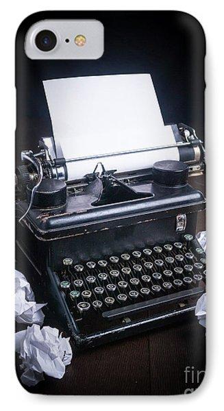 Vintage Manual Typewriter Phone Case by Edward Fielding