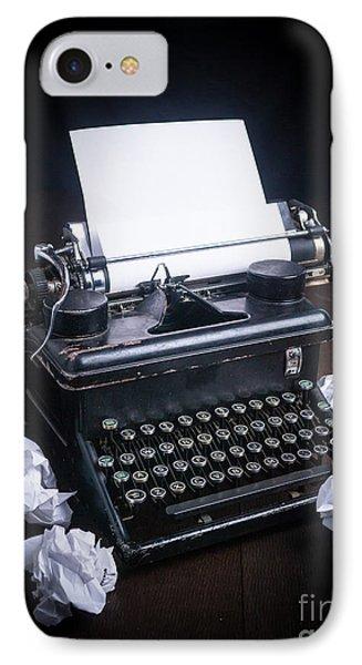 Vintage Manual Typewriter IPhone Case by Edward Fielding