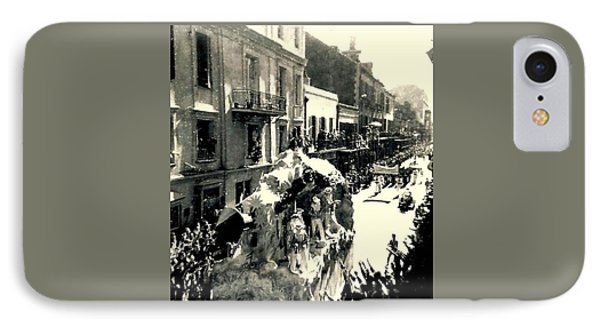 IPhone Case featuring the photograph New Orleans Vintage Mardi Gras In The French Quarter Of  Louisiana  1960 by Michael Hoard