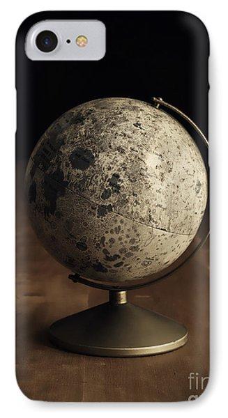 Vintage Moon Globe IPhone Case by Edward Fielding