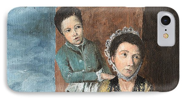 Vintage Mother And Son IPhone Case by Mary Ellen Anderson