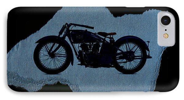 Vintage Motorcycle Phone Case by David Ridley