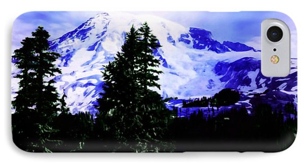 Vintage Mount Rainier From Pinnacle Peak Early 1900 Era... IPhone Case