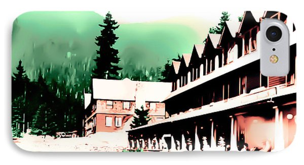 Vintage Mount Rainier National Park Inn Early 1900 Era... IPhone Case