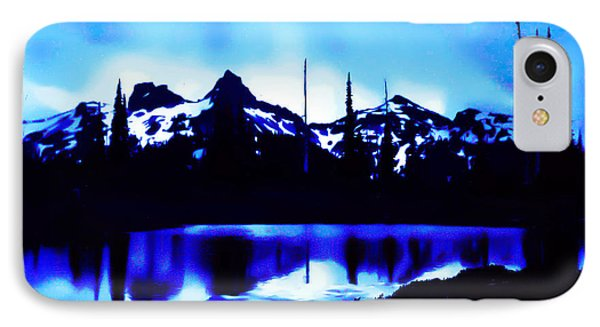 Vintage Mount Rainier With Longmire Springs In The Foreground Early 1900 Era... IPhone Case by Eddie Eastwood