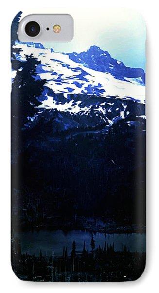 Vintage Mount Rainier With Reflexion Lake Early 1900 Era... IPhone Case by Eddie Eastwood