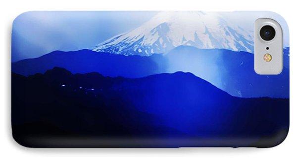 Vintage Mount St. Helens From Pinnacle Peak Early 1900 Era... IPhone Case by Eddie Eastwood