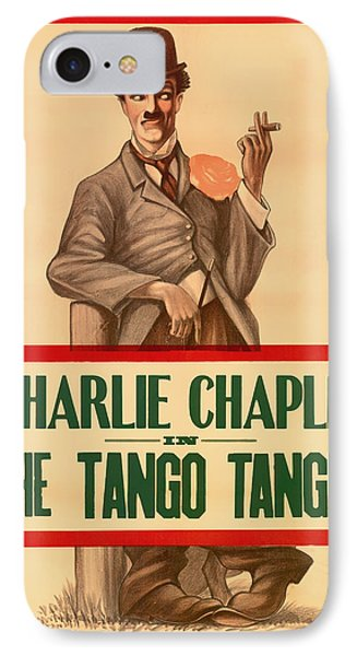 Vintage Movie Poster - Charlie Chaplin In The Tango Tangle 1914 IPhone Case