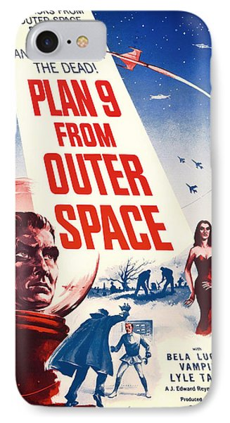 Vintage Movie Poster - Plan 9 From Outer Space IPhone Case by Mountain Dreams