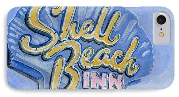 Vintage Neon- Shell Beach Inn Phone Case by Sheryl Heatherly Hawkins