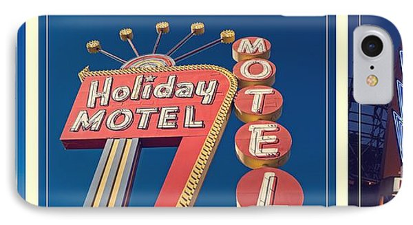 Vintage Neon Signs Trio Phone Case by Edward Fielding