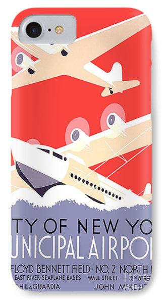 Vintage New York Travel Poster IPhone Case