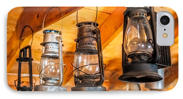 Vintage Oil Lanterns IPhone Case by Paul Freidlund