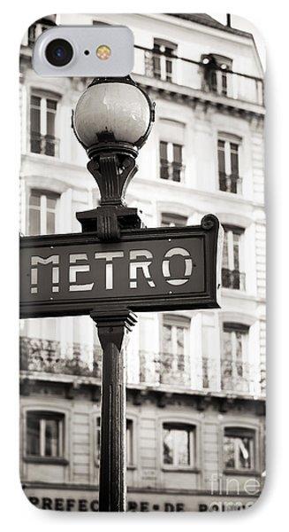 Vintage Paris Metro IPhone Case by John Rizzuto