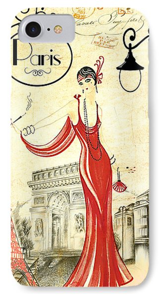Vintage Paris Woman IPhone Case by Greg Sharpe