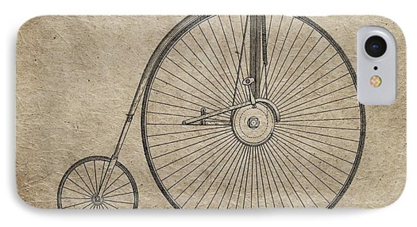 Vintage Penny-farthing Bicycle Illustration IPhone Case