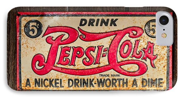 Vintage Pepsi Cola Ad IPhone Case by Les Palenik