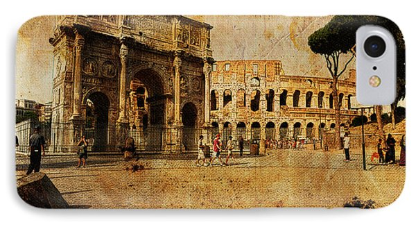 Vintage Photo Of Coliseum IPhone Case by Stefano Senise