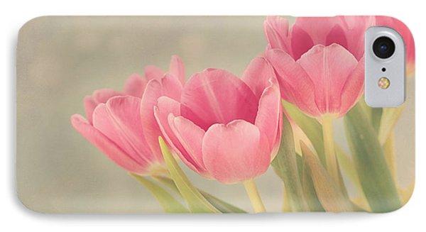 Vintage Pink Tulips Phone Case by Kim Hojnacki