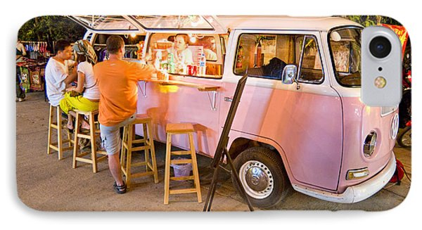 Vintage Pink Volkswagen Bus IPhone Case by Luciano Mortula