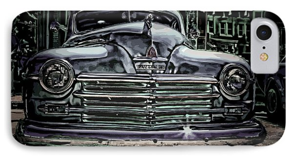 Vintage Plymouth Art Denim Dream IPhone Case by Lesa Fine
