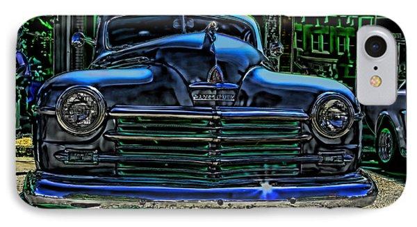 Vintage Plymouth Art Indigo Dreams IPhone Case by Lesa Fine
