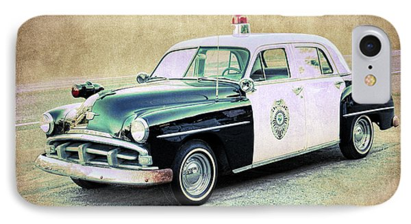 Vintage Plymouth Cop Car IPhone Case by Steve McKinzie