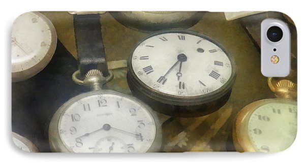 Vintage Pocket Watches Phone Case by Susan Savad