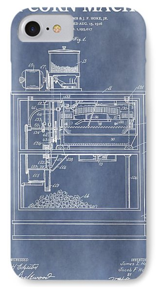 Vintage Popcorn Machine Patent IPhone Case by Dan Sproul