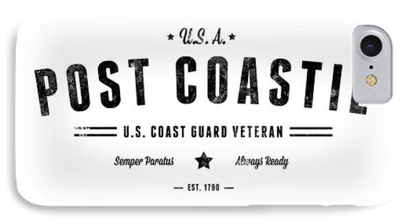 Vintage Post Coastie IPhone Case by Tom DiFrancesca