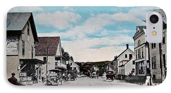 Vintage Postcard Of Wolfeboro New Hampshire Art Prints IPhone Case by Valerie Garner