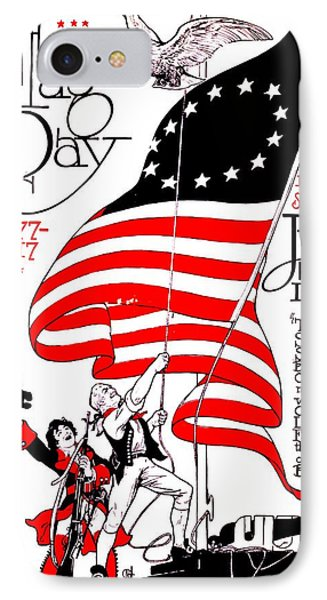Vintage Poster - America - Flag Day 1917 Phone Case by Benjamin Yeager